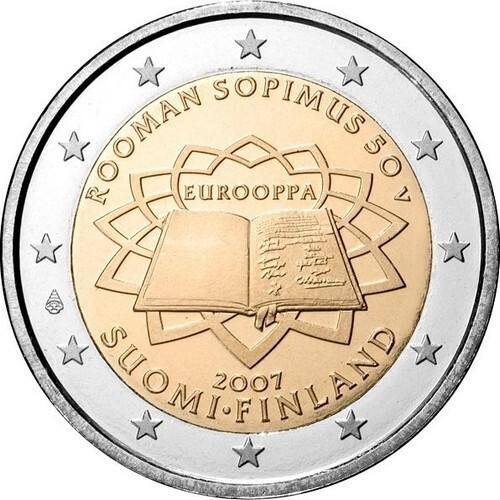 Финляндия 2 евро 2007 г.  Римский договор