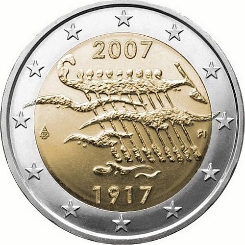 Финляндия 2 евро 2007 г.  Независимость