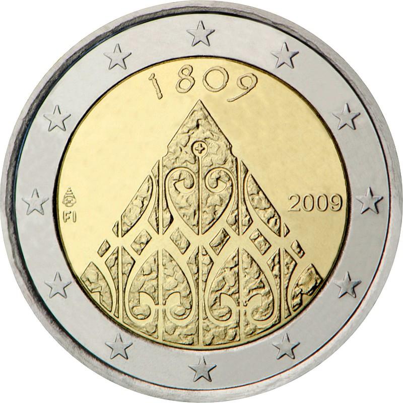 Финляндия 2 евро 2009 г.  200-летие финской автономии