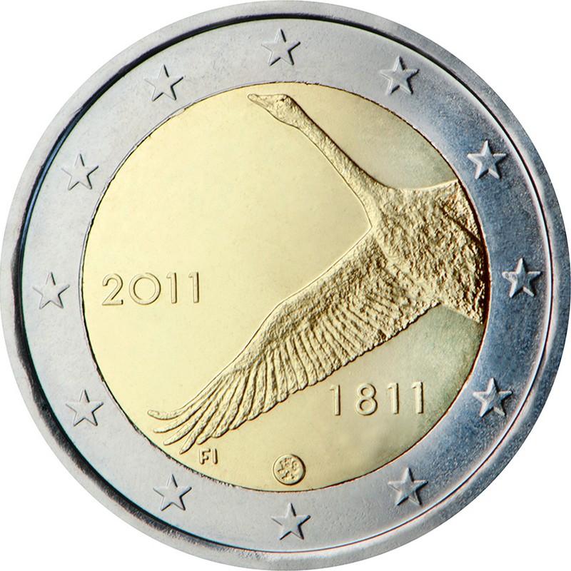 Финляндия 2 евро 2011 г.  200-летие Банка Финляндии