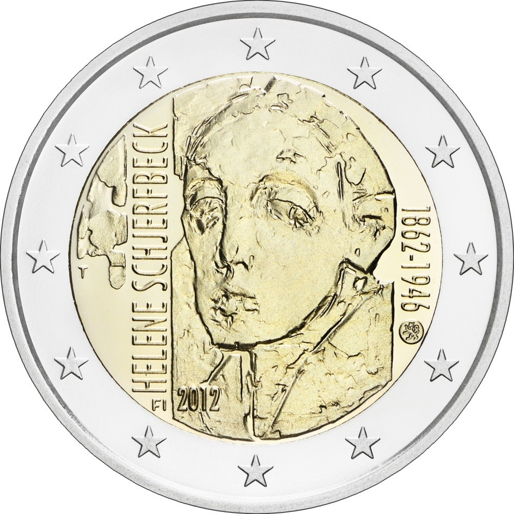 Финляндия 2 евро 2012 г.  Хелен Шерфбек