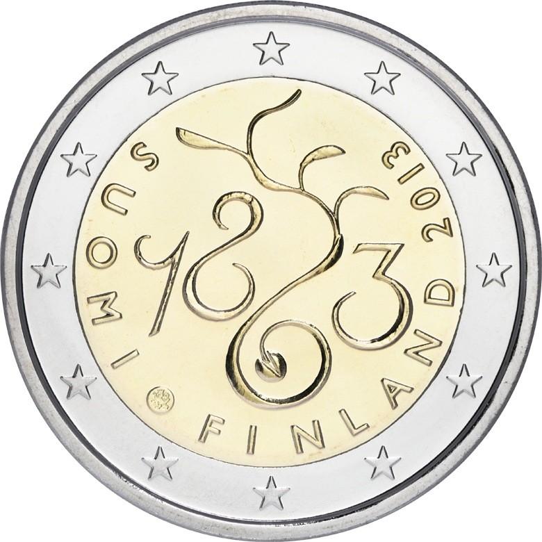 Финляндия 2 евро 2013 г.  150 лет парламенту