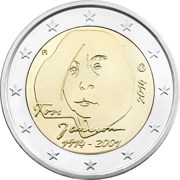 Финляндия 2 евро 2014 г.  Туве Янссон