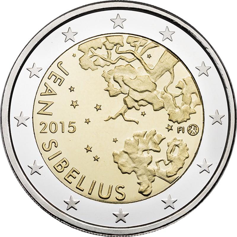 Финляндия 2 евро 2015 г.  Ян Сибелиус