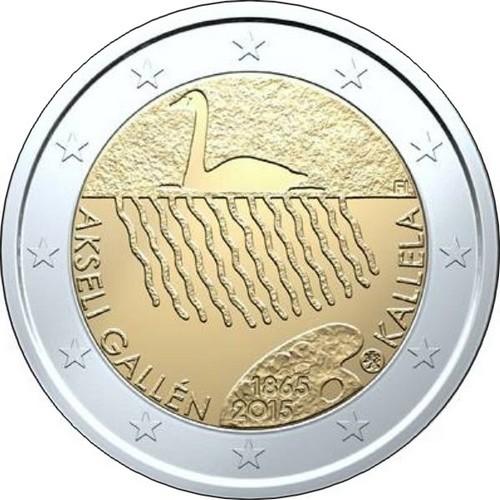 Финляндия 2 евро 2015 г. Аксели Галле-Каллела