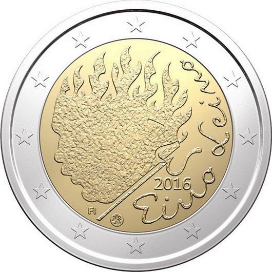 Финляндия 2 евро 2016 г.  Эйно Лейно