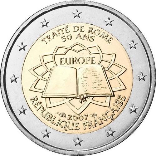 Франция 2 евро 2007 г. Римский договор