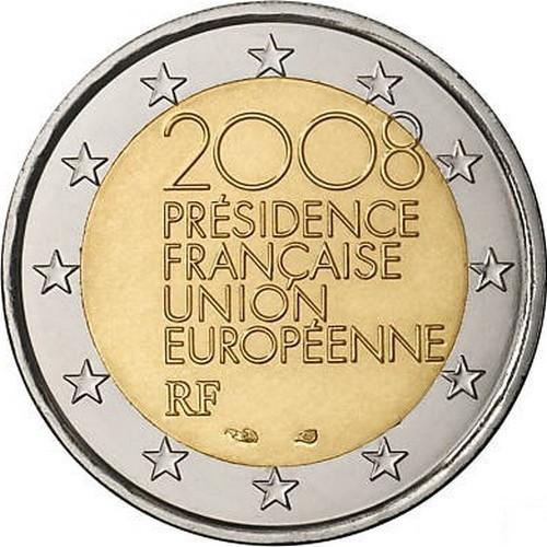 Франция 2 евро 2008 г. Председательство в Евросоюзе