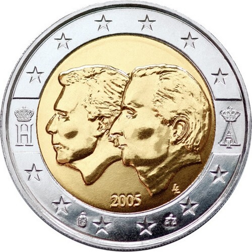 Бельгия 2 евро 2005 г. Экономический союз