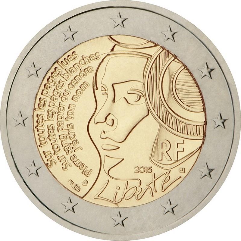 Франция 2 евро 2015 г.  Фестиваль Федерации