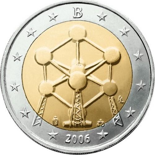 Бельгия 2 евро 2006 г. Атомиум