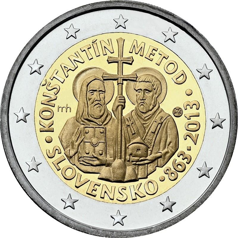 Словакия 2 евро 2013 г.   Кирилл и Мефодий