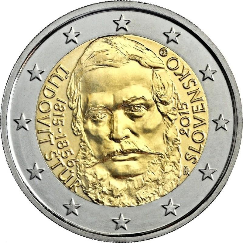 Словакия 2 евро 2015 г.   Людовит Штур