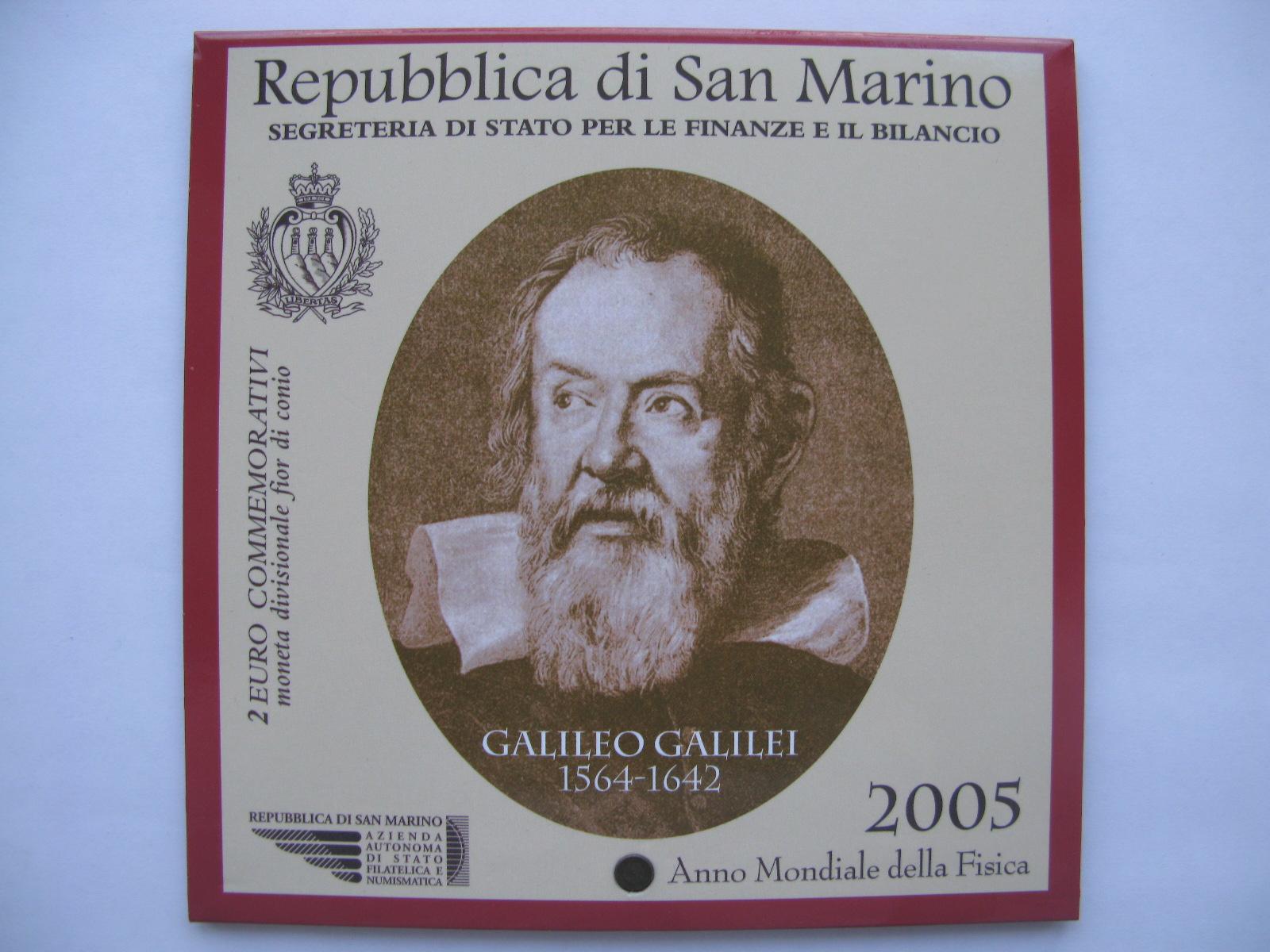 Сан Марино 2 евро 2005  Год физики