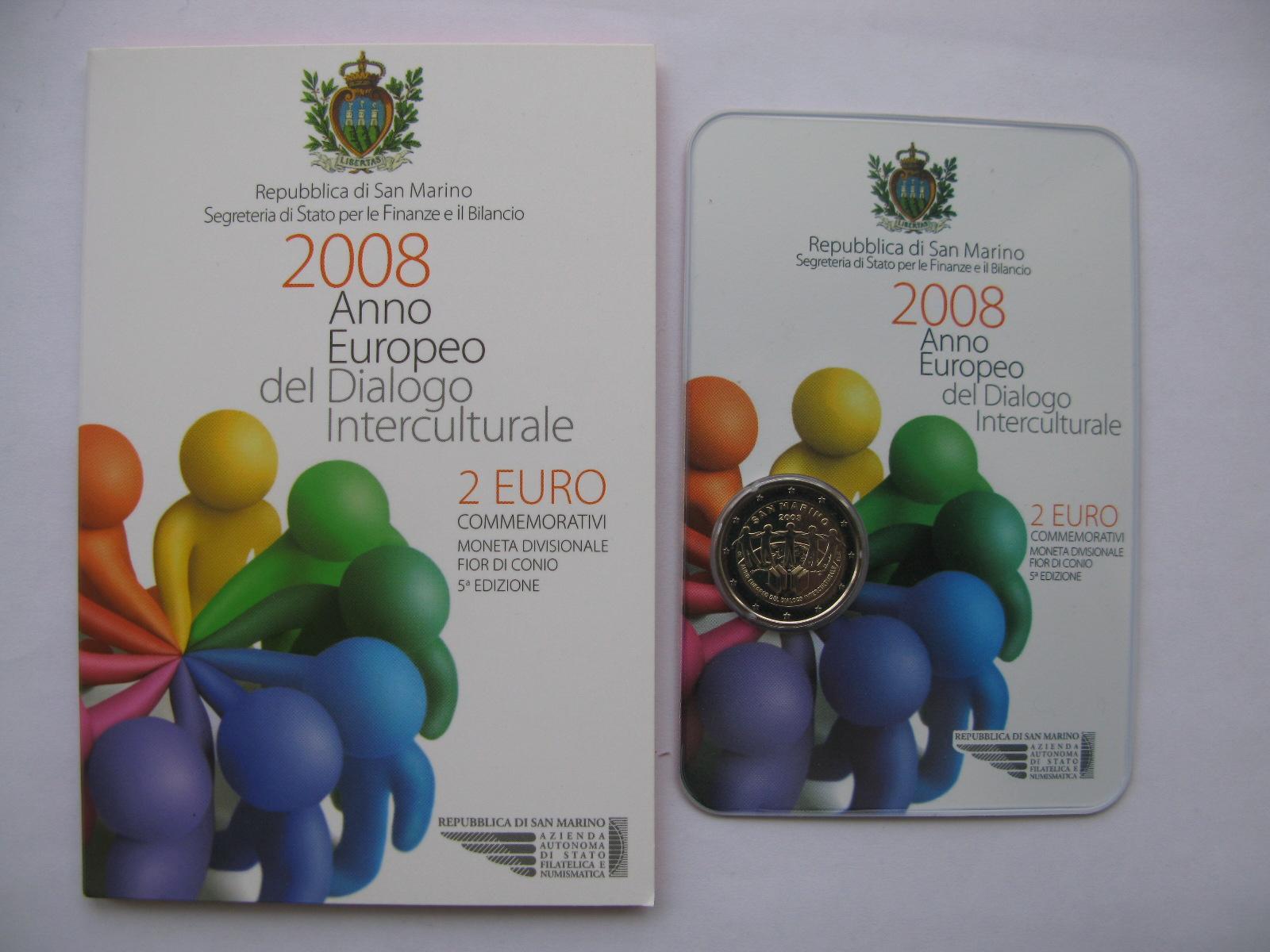 Сан Марино 2 евро 2008  Год межкультурного диалога