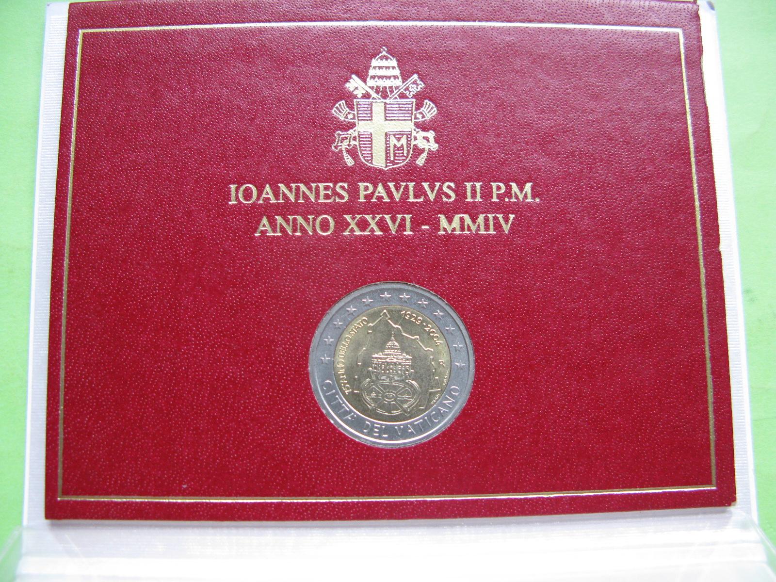 Ватикан 2 евро 2004 г. 75-летие основания Ватикана
