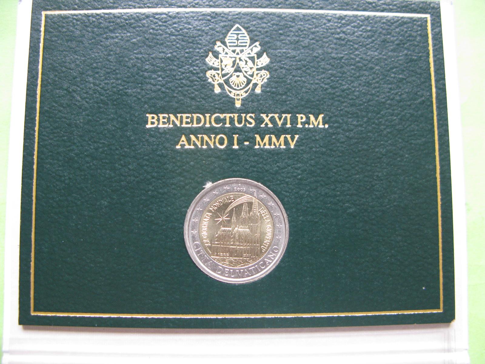 Ватикан 2 евро 2005 г. День молодёжи в Кёльне