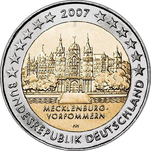 Германия 2 евро 2007 г.  Мекленбург-Передняя Померания