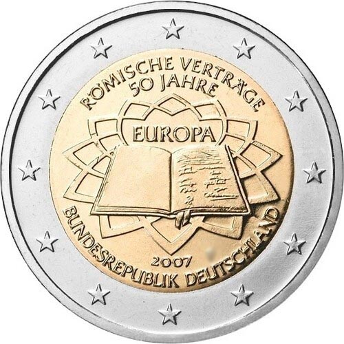 Германия 2 евро 2007 г. Римский договор