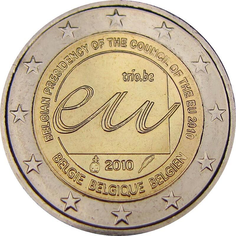 Бельгия 2 евро 2010 г. Председательство в ЕС