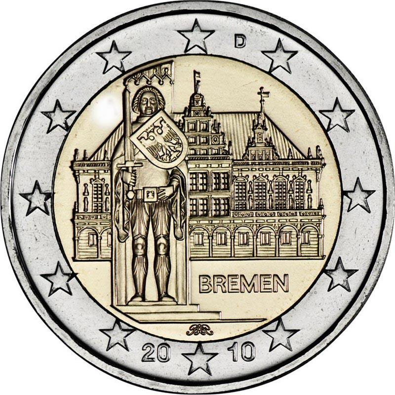 Германия 2 евро 2010 г. Бремен