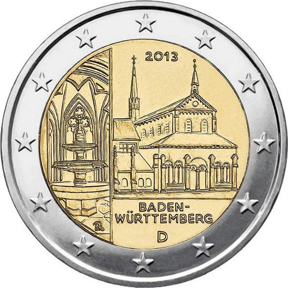 Германия 2 евро 2013 г. Баден-Вюртемберг