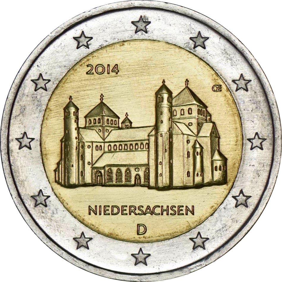Германия 2 евро 2014 г. Нижняя Саксония