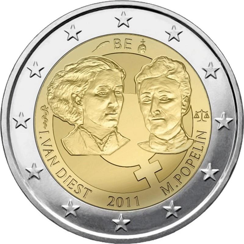 Бельгия 2 евро 2011 г. Международный женский день