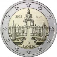 Германия 2 евро 2016 г. Саксония