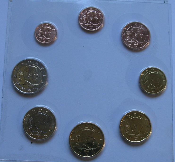 Бельгия набор евро монет 2016 г. UNC