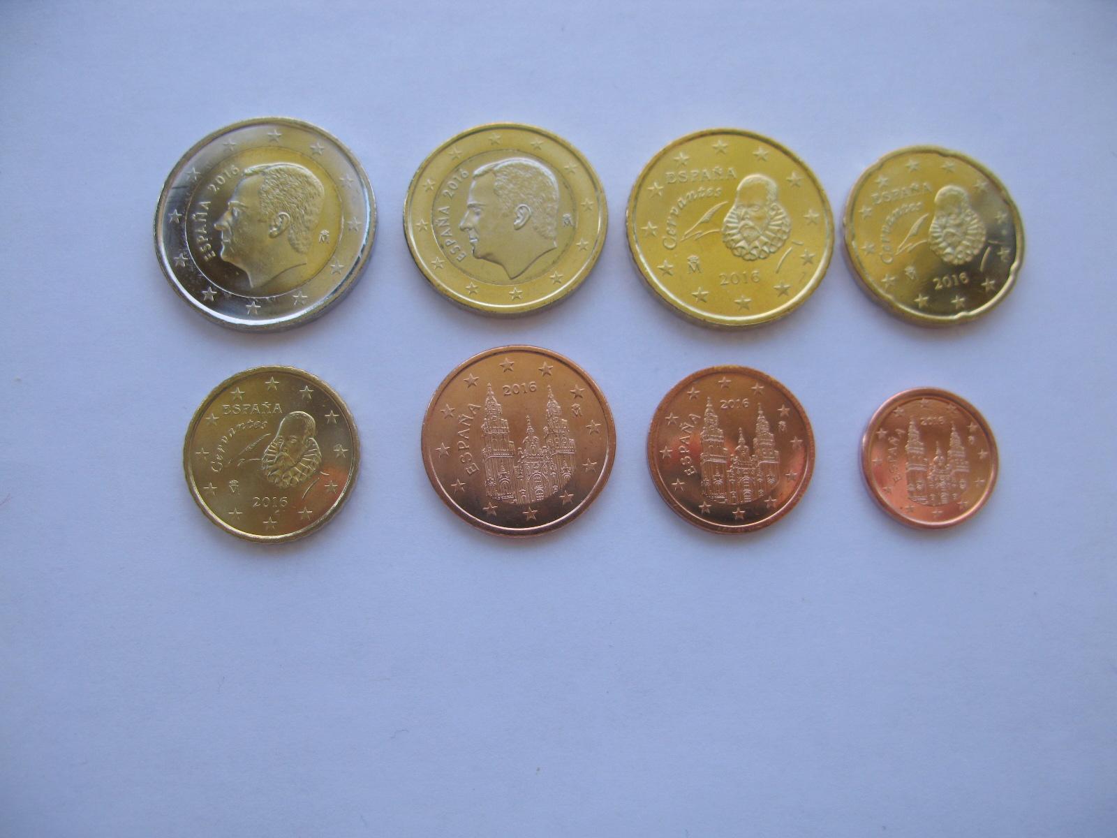 Испания набор евро 2016  UNC