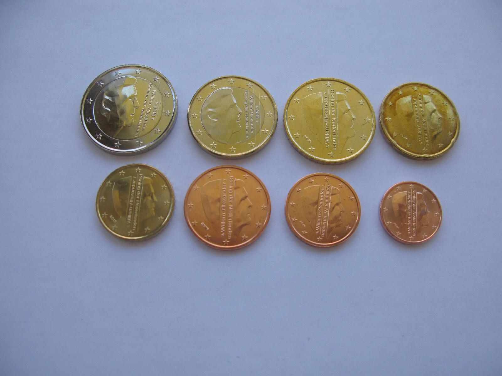 Нидерланды набор евро  2016 г. UNC