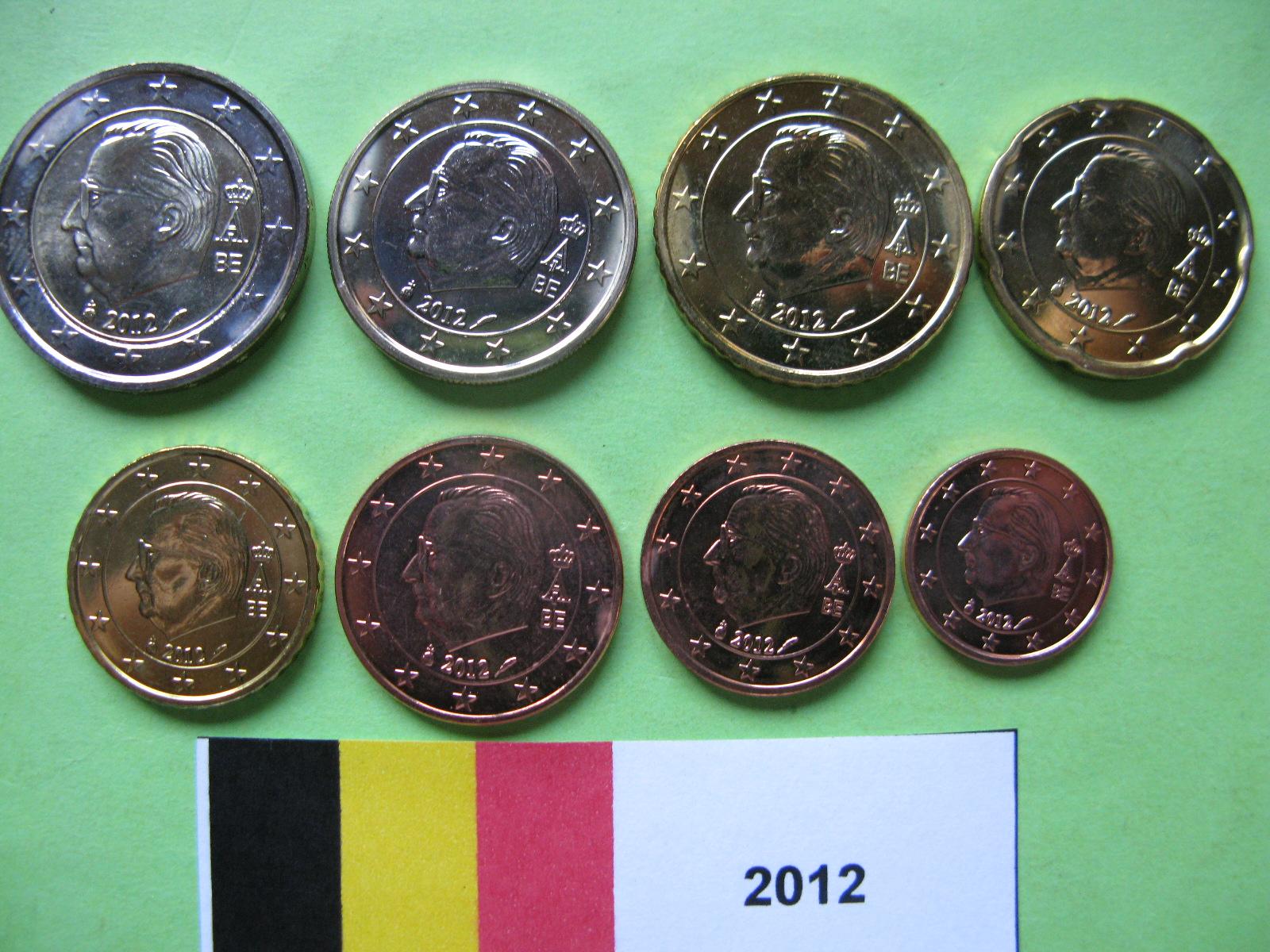 Бельгия набор евро 2012  UNC