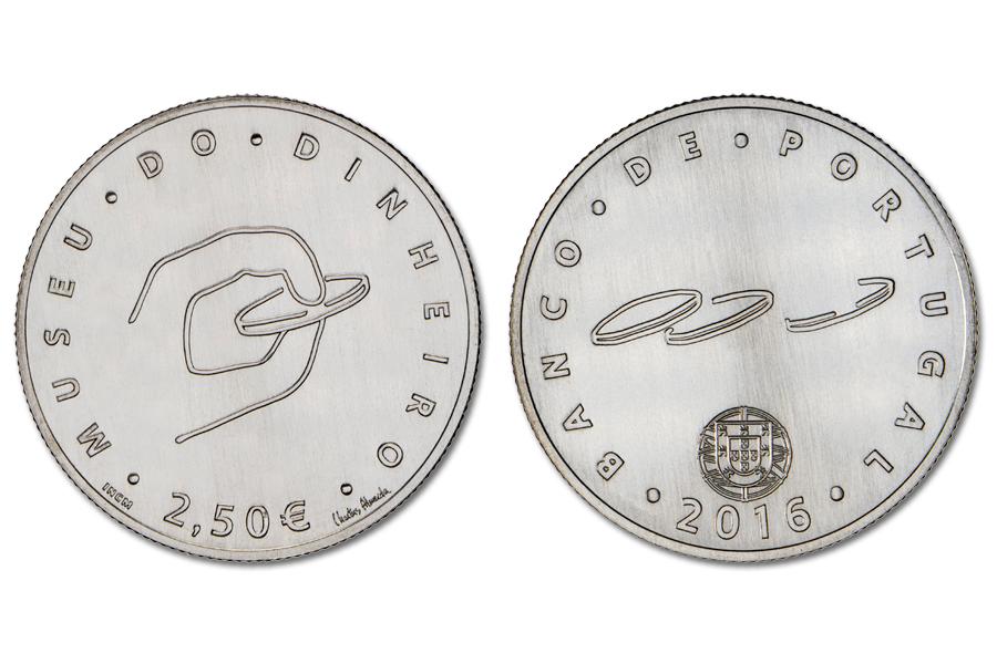 Португалия 2,5 евро 2016 г.
