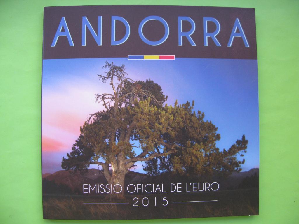 Андорра официальный набор евро  2015 г.