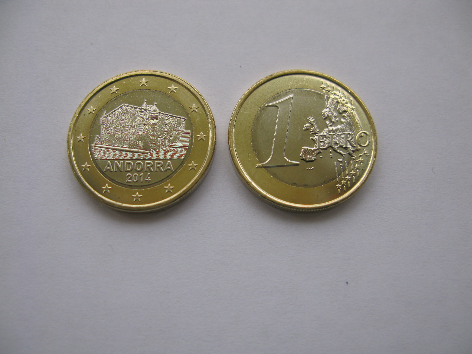Андорра 1 евро 2014 г.