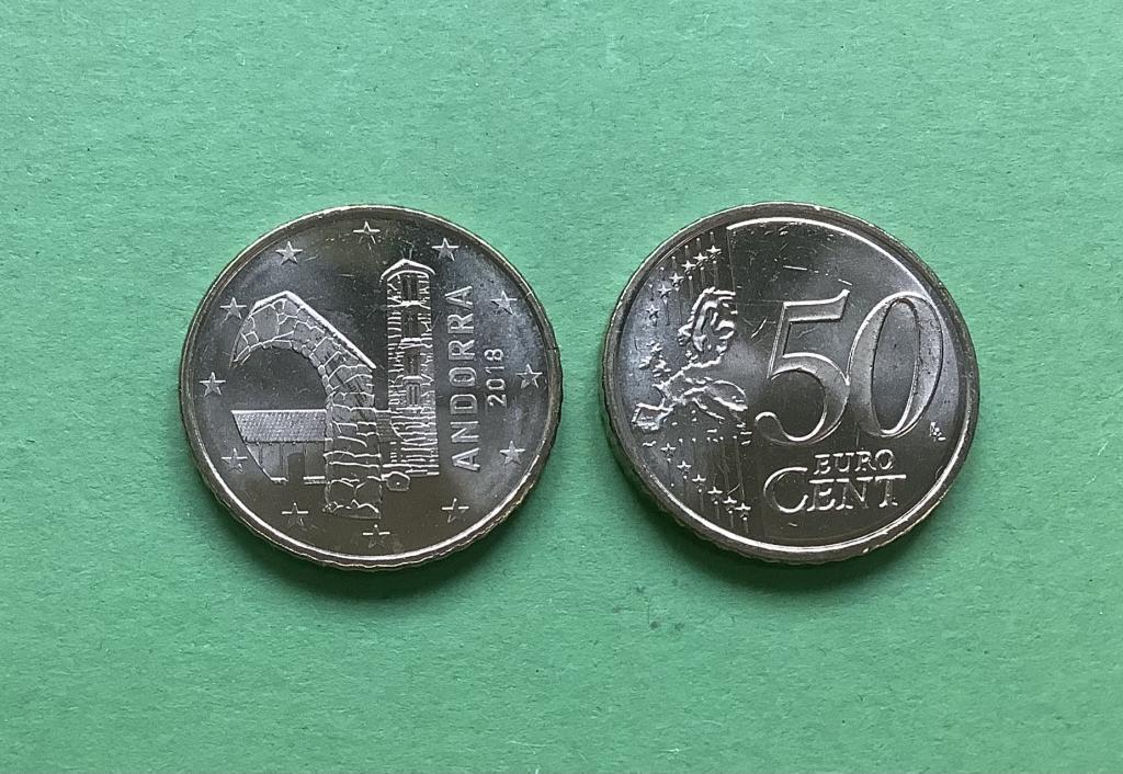Андорра 50 евро центов  2014 г.