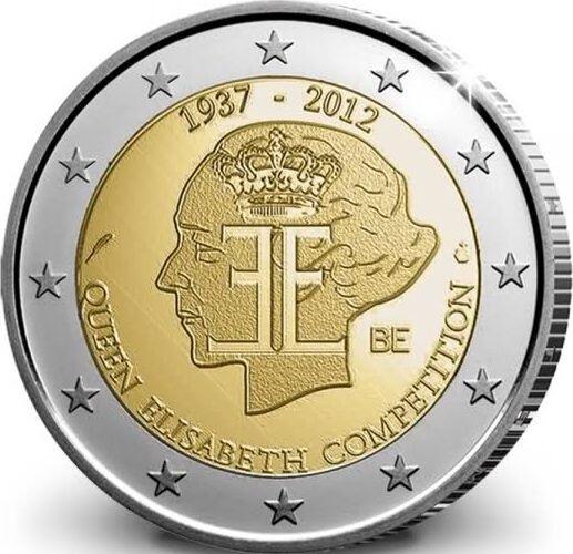 Бельгия 2 евро 2012 г.  Конкурс королевы Елизаветы