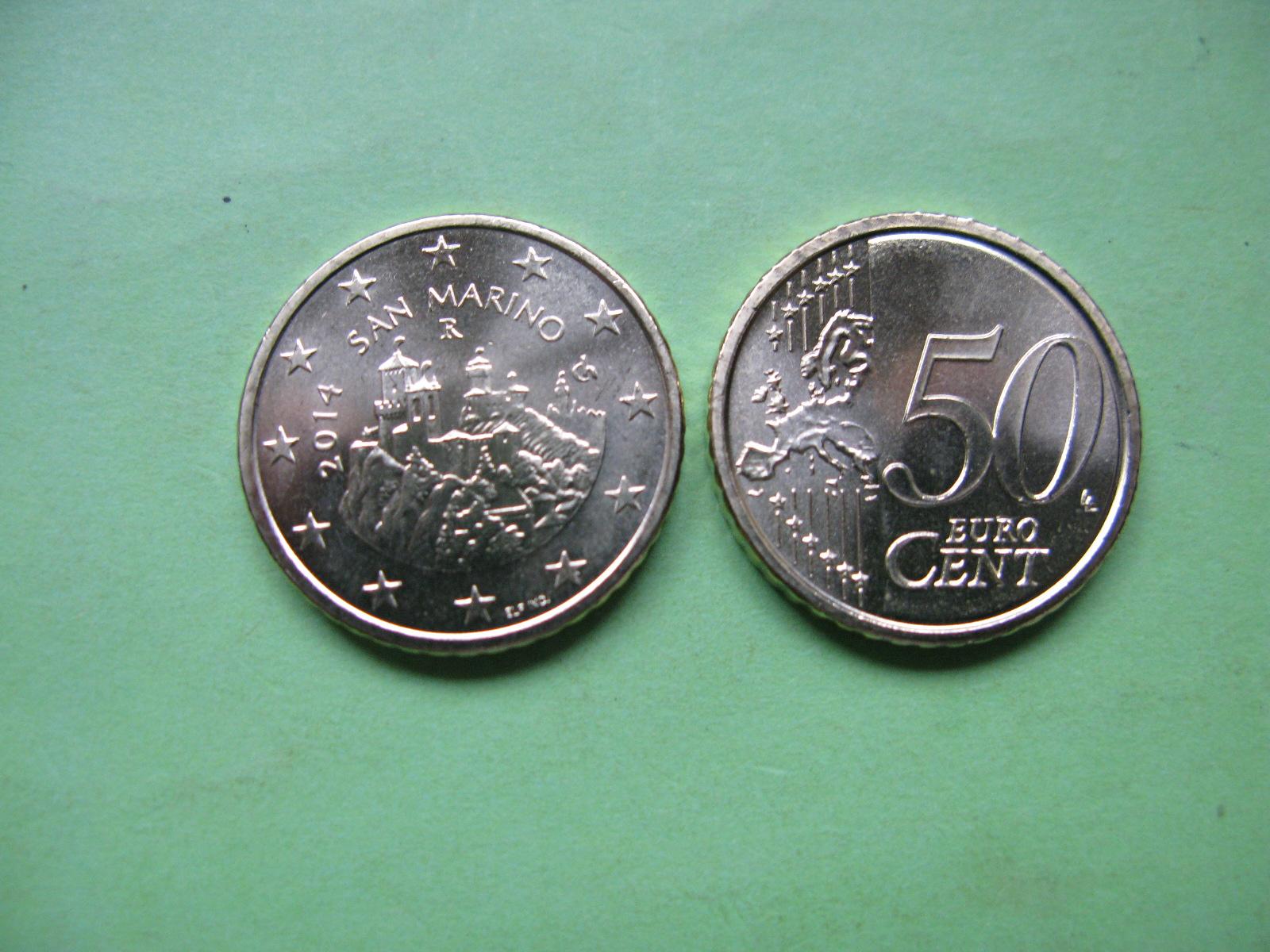 Сан Марино 50 евро центов 2014 г. UNC