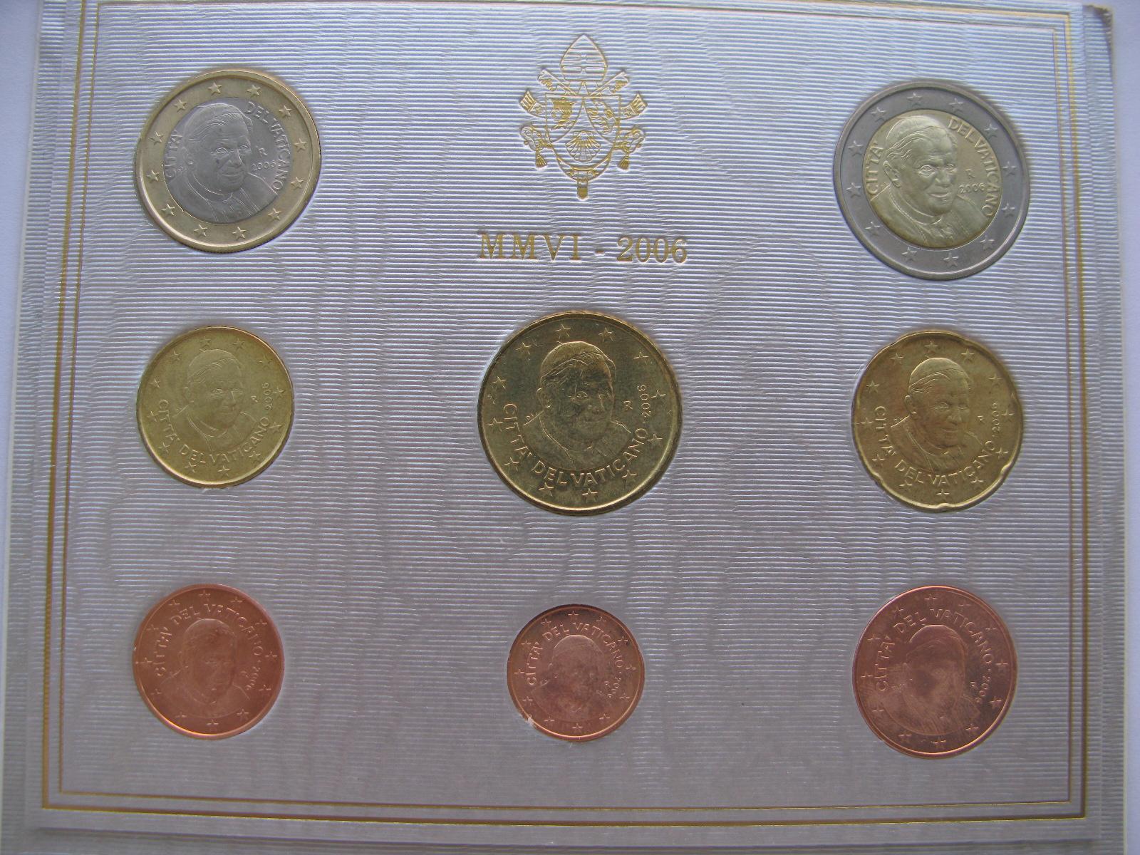 Ватикан официальный набор 2006 г.(Папа Бенедикт VXI )