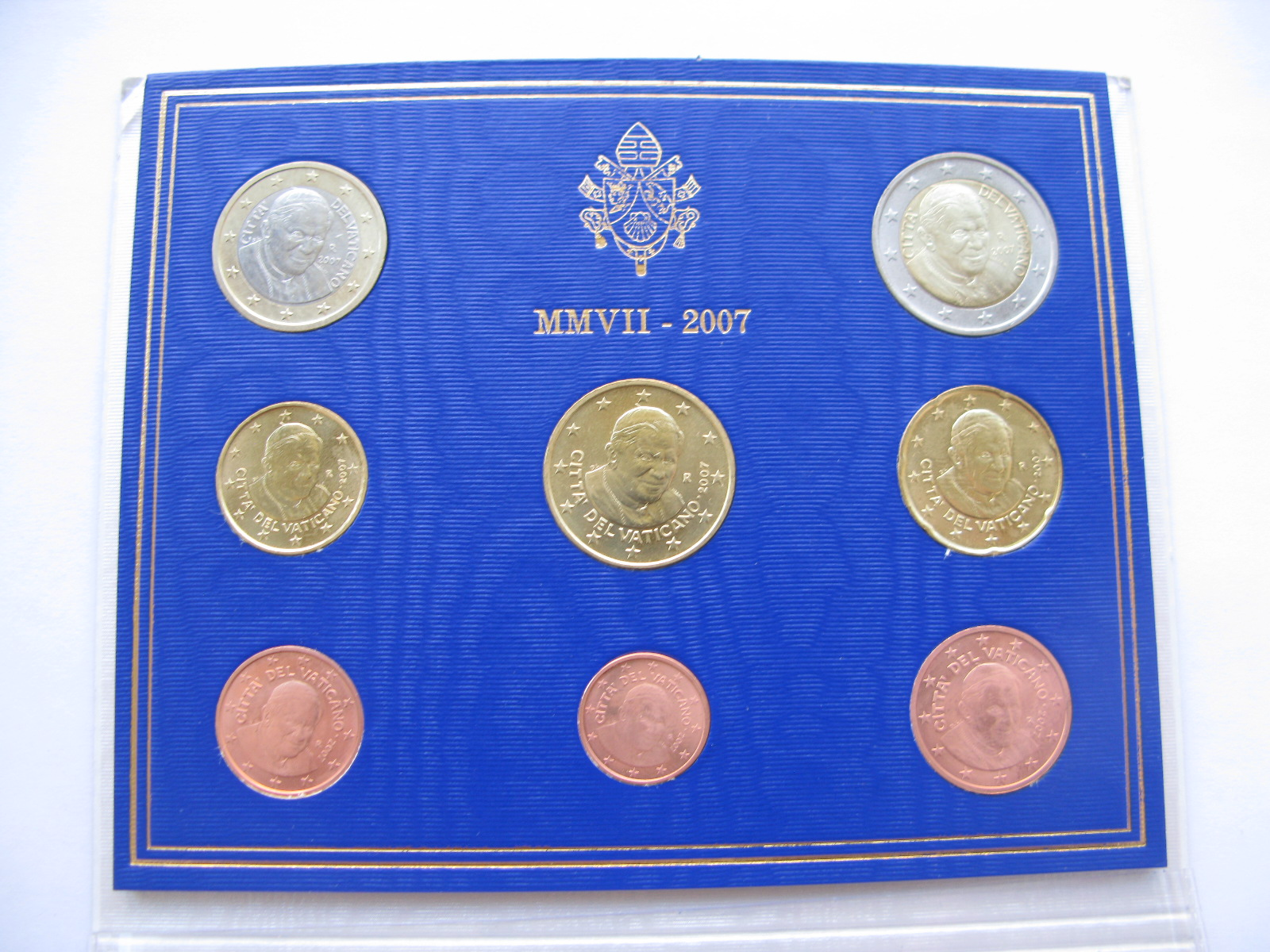 Ватикан официальный набор 2007 г.(Папа Бенедикт VXI )