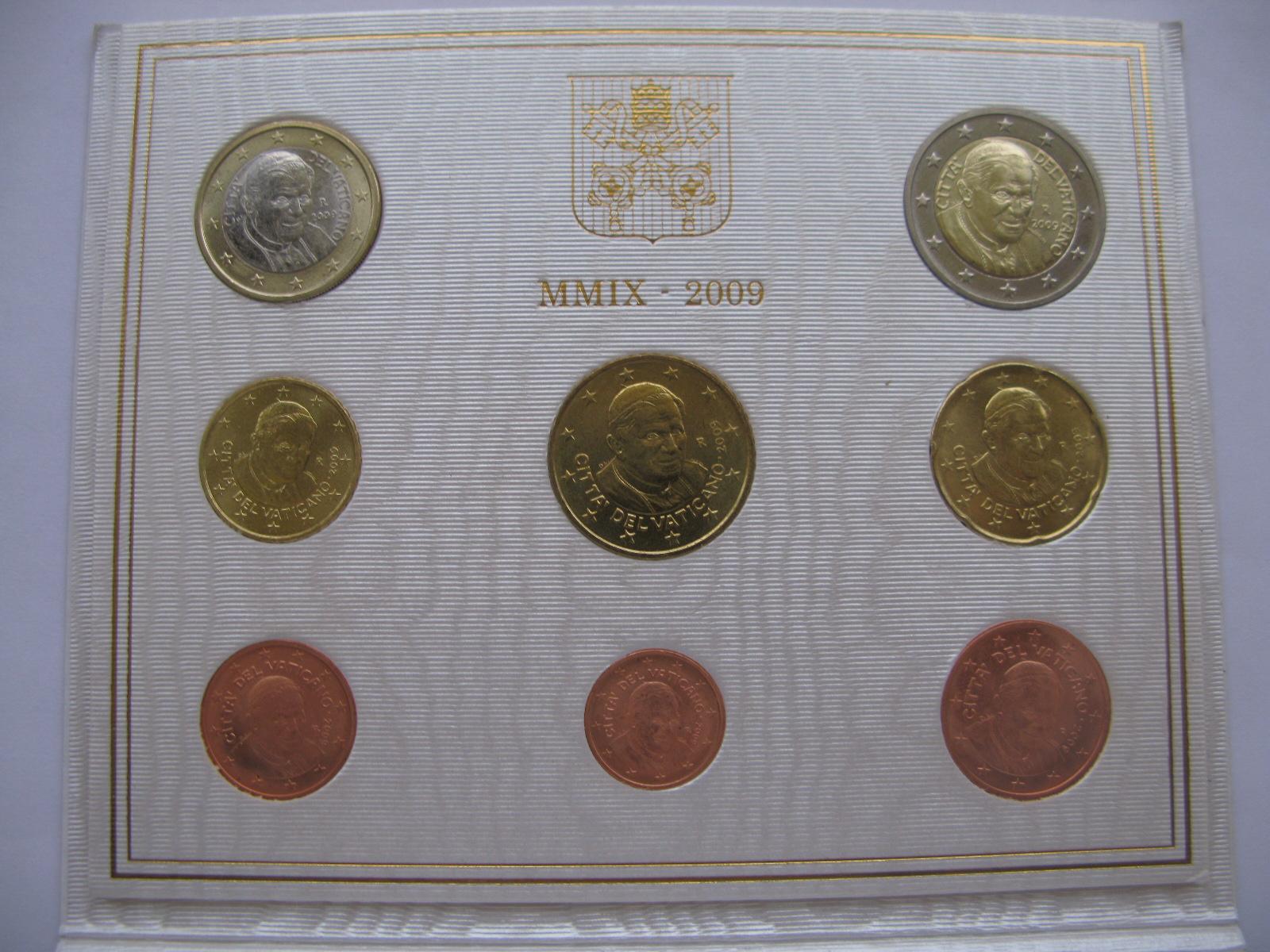 Ватикан официальный набор 2009 г.(Папа Бенедикт VXI )