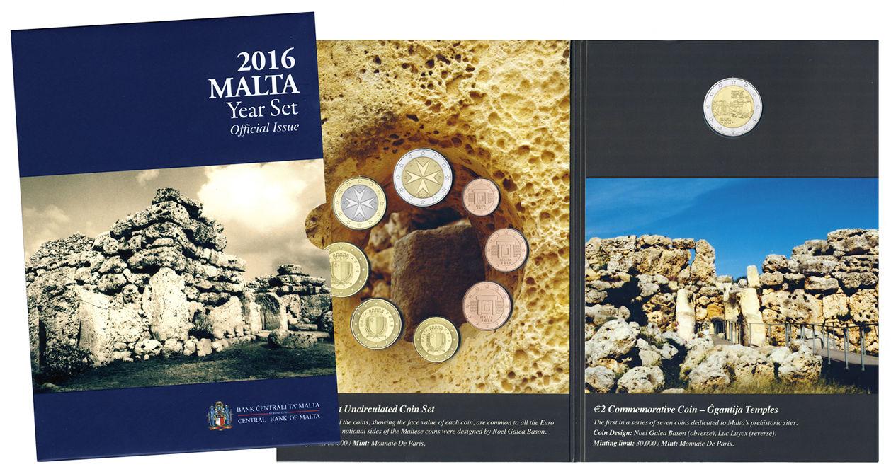 Мальта официальный набор евро 2016 г.