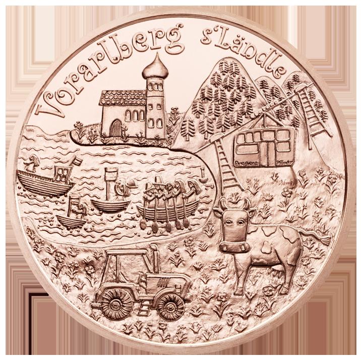 Австрия  10 евро 2013 г. Форарльберг