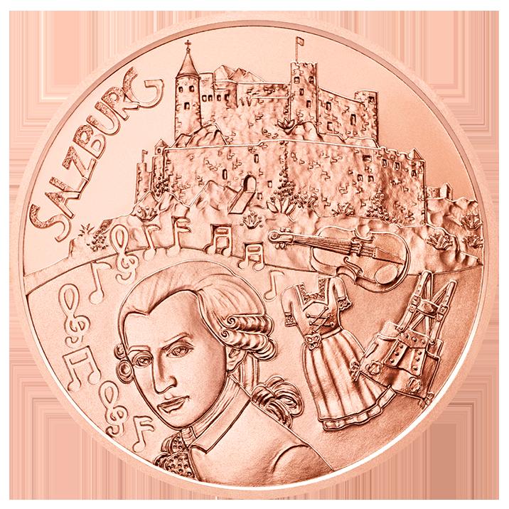 Австрия  10 евро 2014 г. Зальцбург