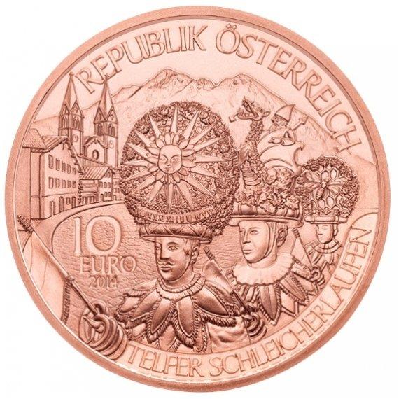 Австрия  10 евро 2014 г. Тироль