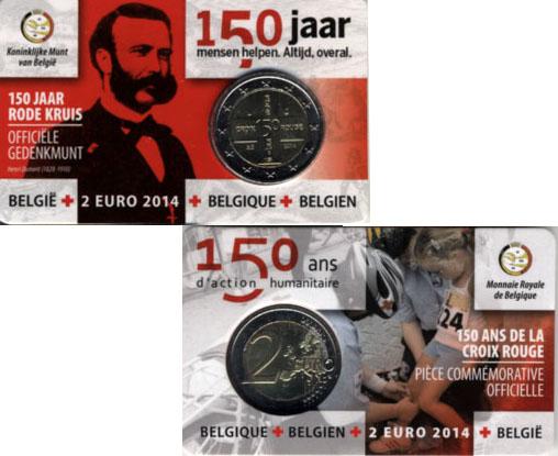 Бельгия 2 евро 2014 г. Красный Крест