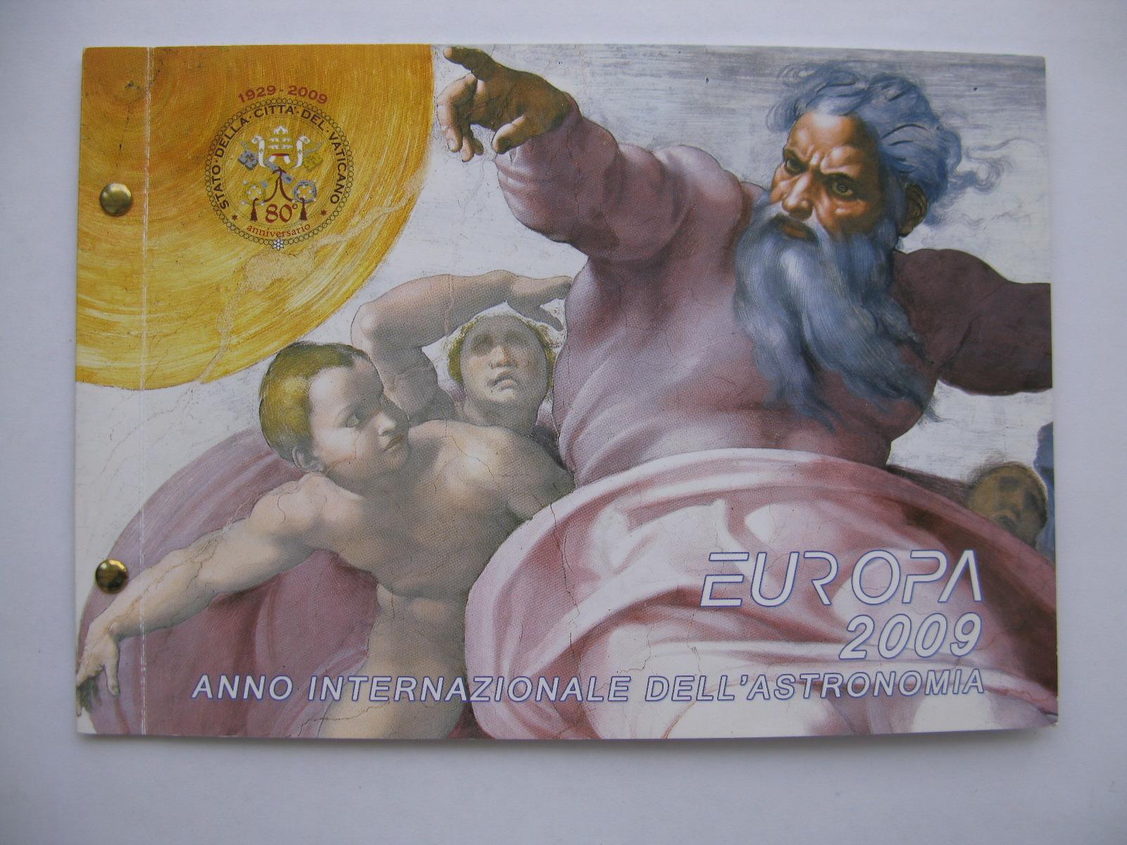Ватикан 2 евро 2009 г.  Международный год астрономии (конверт)