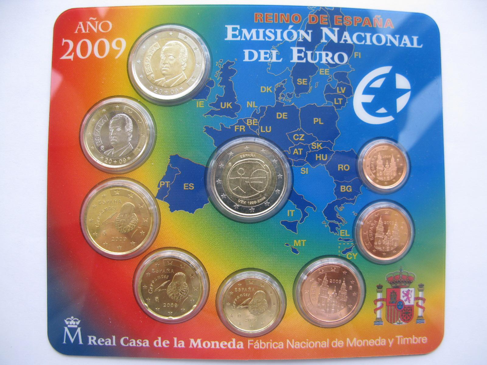 Испания официальный набор евро 2009 г.