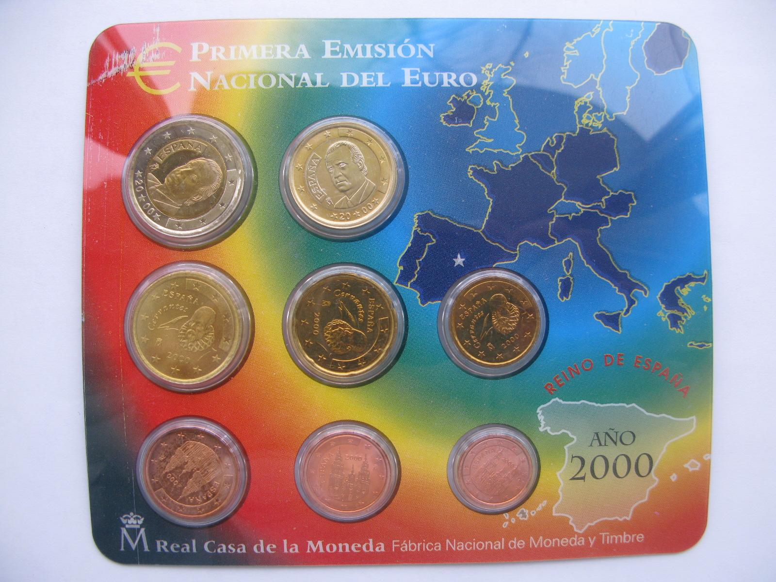Испания официальный набор евро 2000 г.